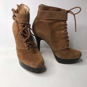 Michael kors size 8 high heel suede boot shoe